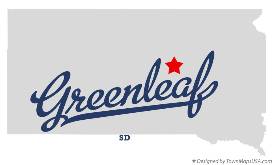 Map of Greenleaf South Dakota SD