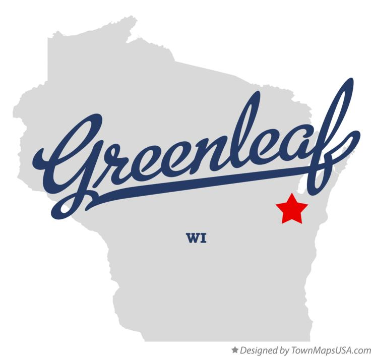 Map of Greenleaf Wisconsin WI