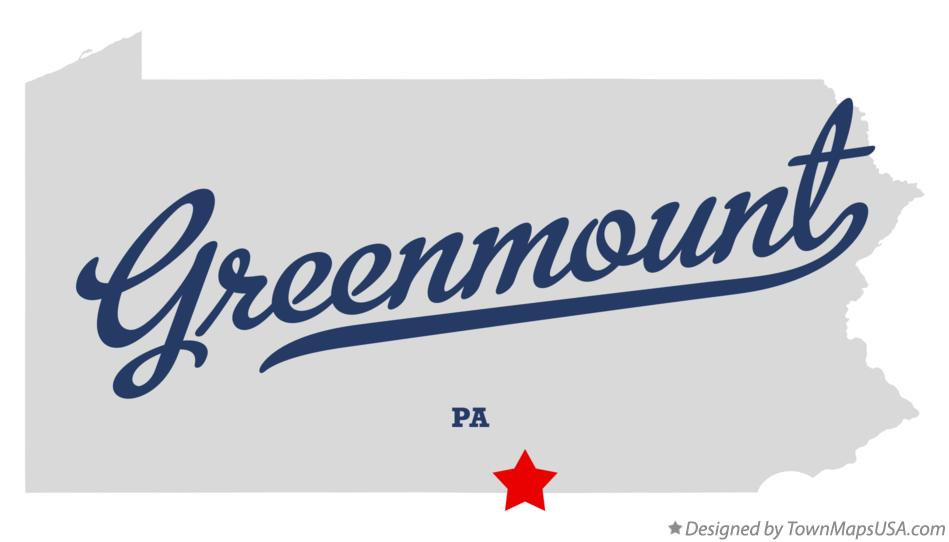 Map of Greenmount Pennsylvania PA