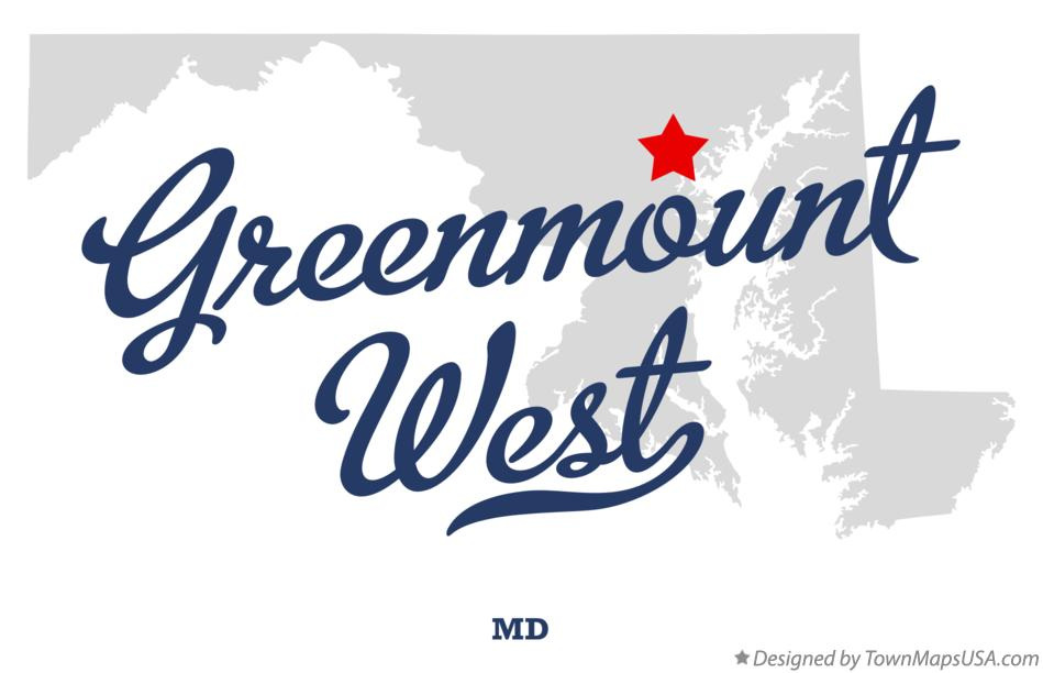 Map of Greenmount West Maryland MD