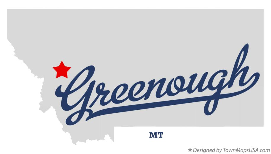 Map of Greenough Montana MT