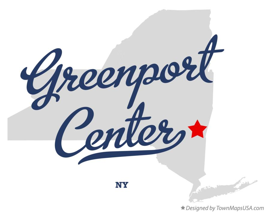 Map of Greenport Center New York NY