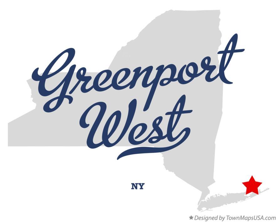 Map of Greenport West New York NY