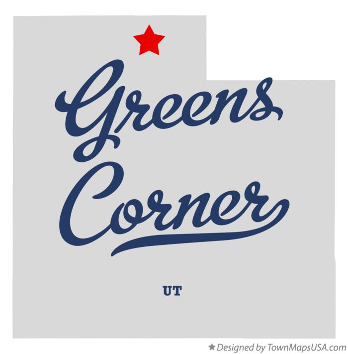 Map of Greens Corner Utah UT