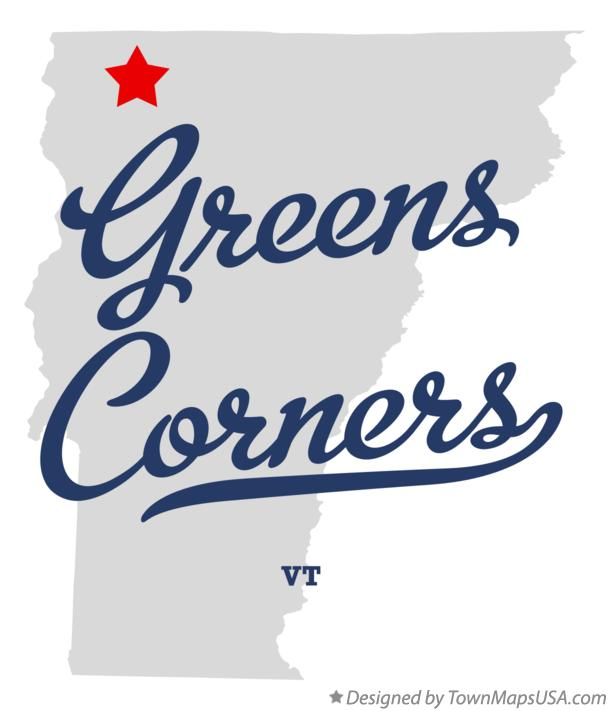 Map of Greens Corners Vermont VT
