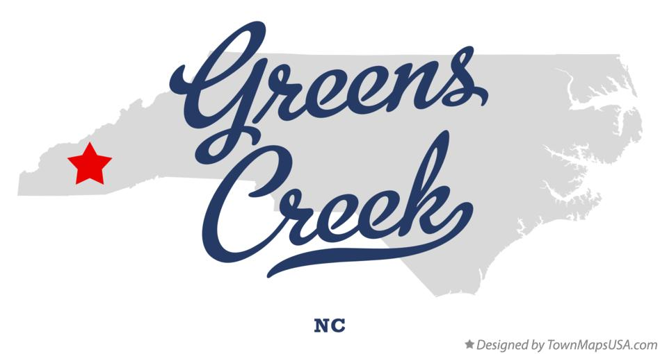 Map of Greens Creek North Carolina NC