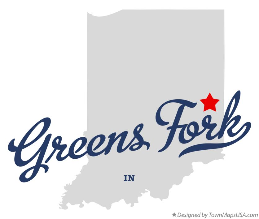 Map of Greens Fork Indiana IN