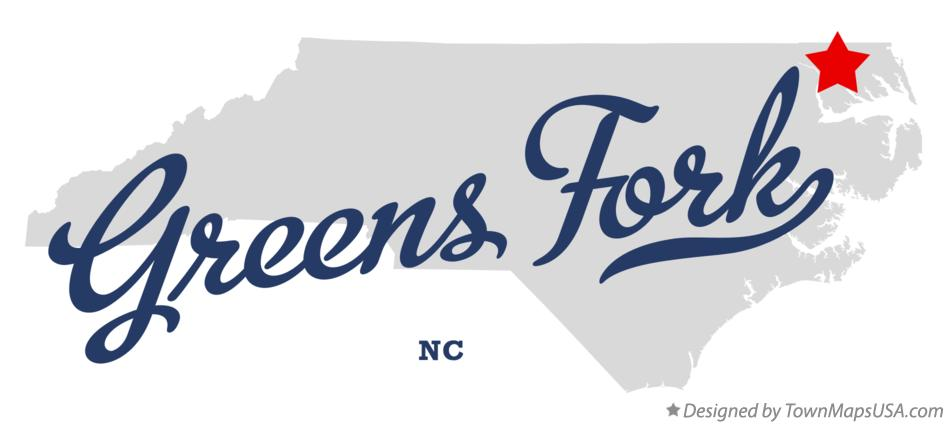 Map of Greens Fork North Carolina NC
