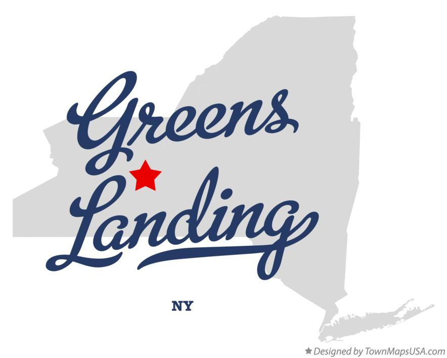 Map of Greens Landing New York NY