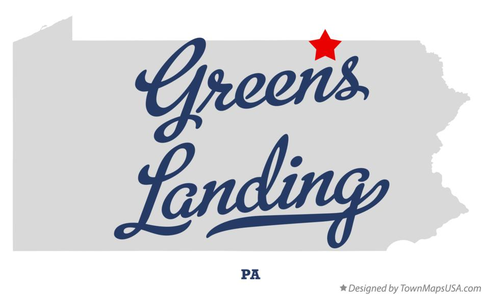 Map of Greens Landing Pennsylvania PA