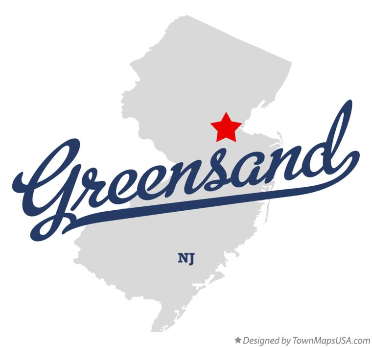 Map of Greensand New Jersey NJ