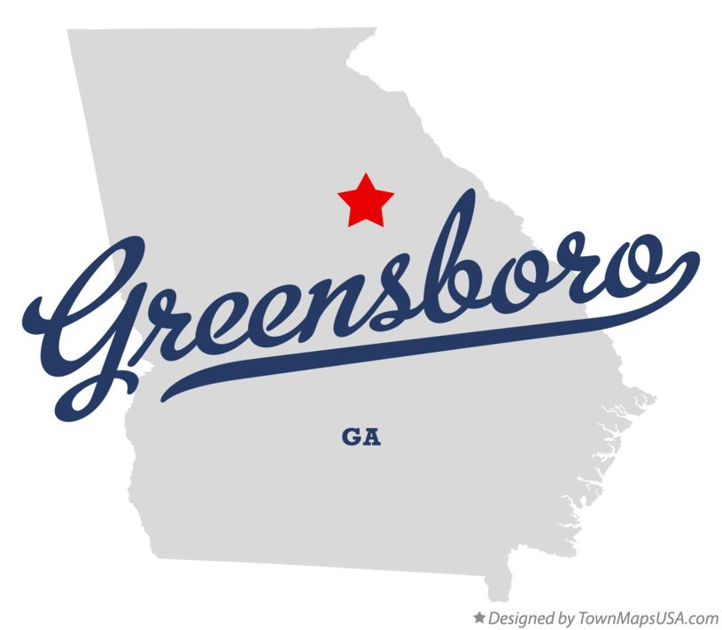 Map of Greensboro Georgia GA