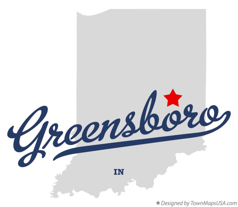 Map of Greensboro Indiana IN