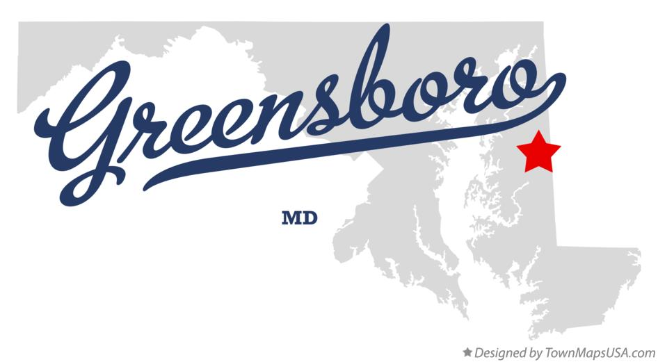 Map of Greensboro Maryland MD