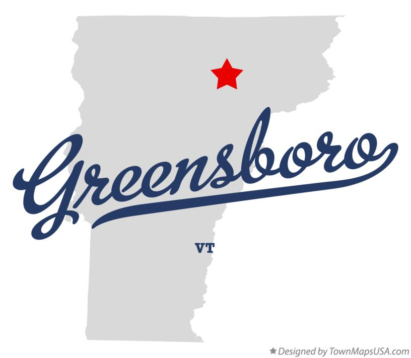 Map of Greensboro Vermont VT