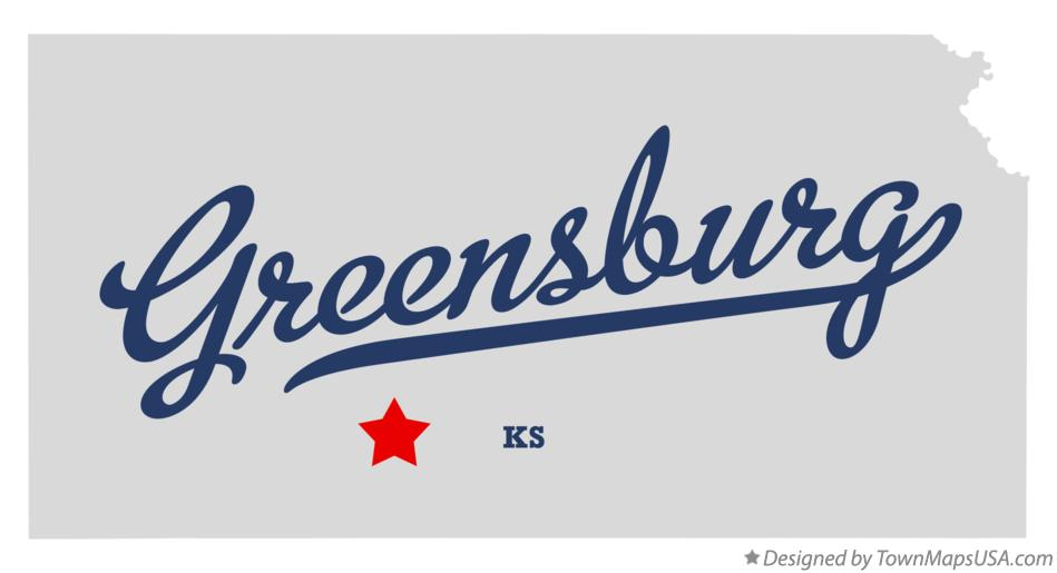 Map of Greensburg Kansas KS
