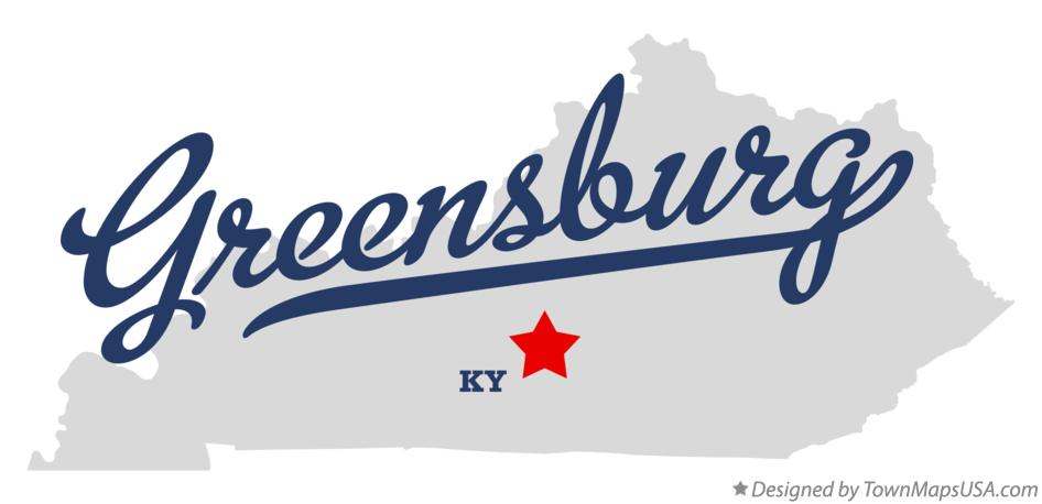 Map of Greensburg Kentucky KY