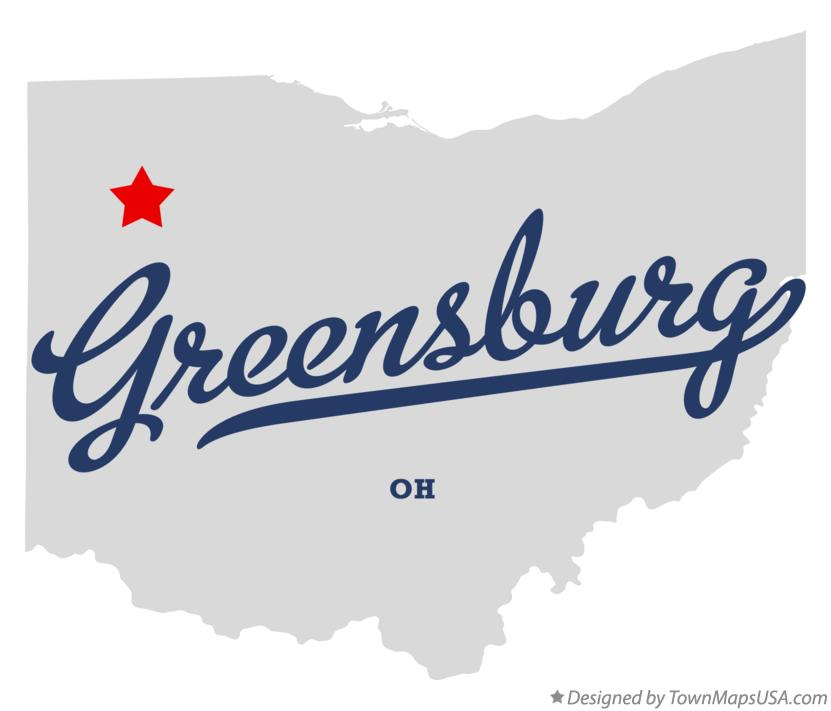 Map of Greensburg Ohio OH