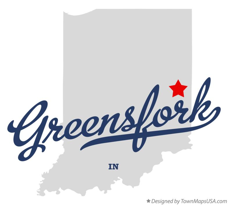 Map of Greensfork Indiana IN