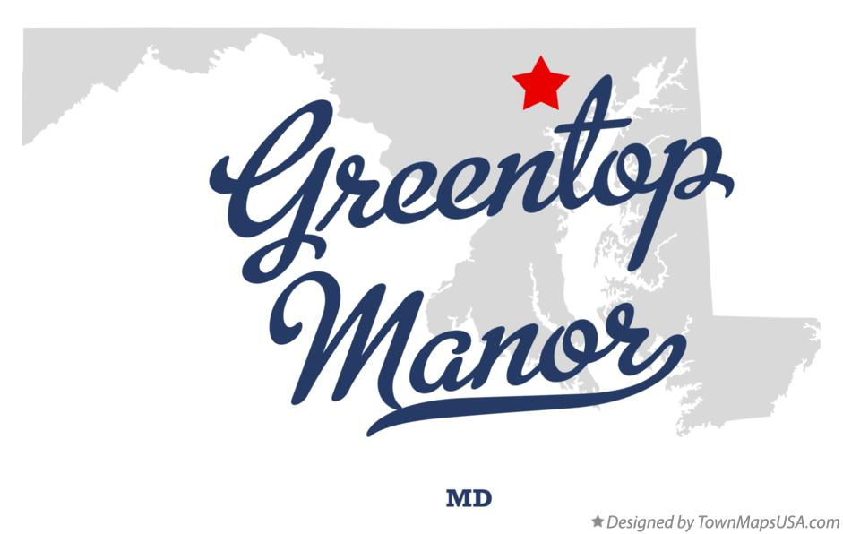Map of Greentop Manor Maryland MD