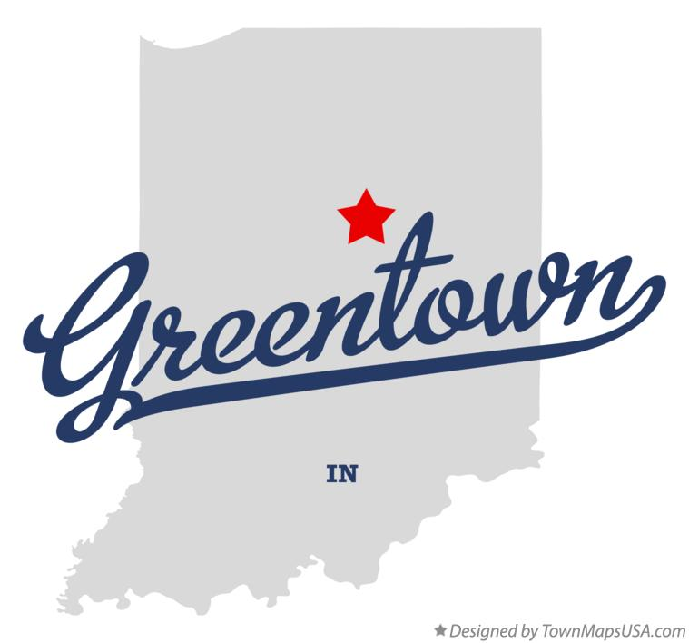 Map of Greentown Indiana IN
