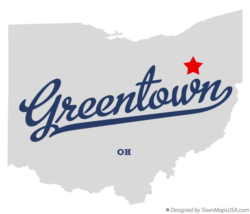 Map of Greentown Ohio OH