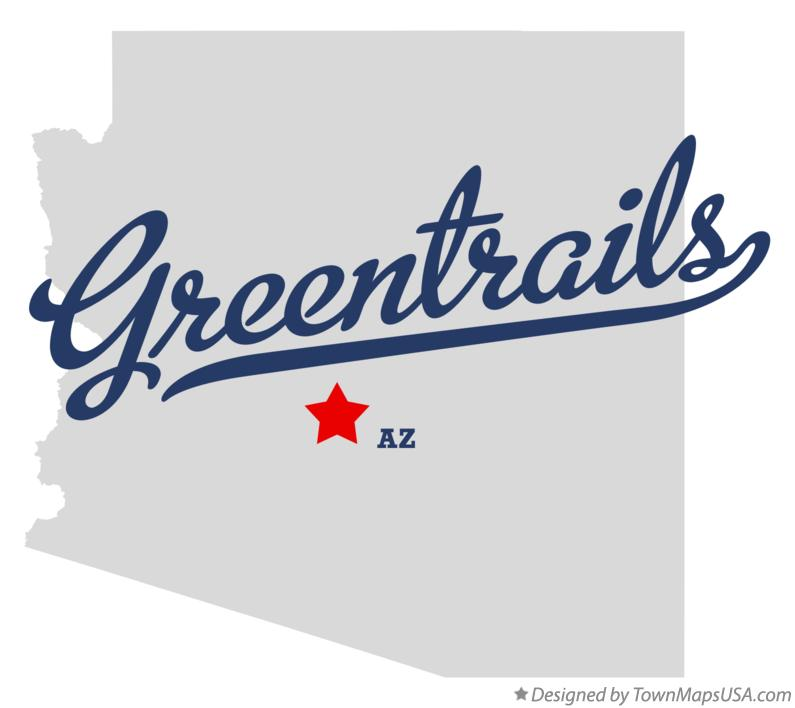 Map of Greentrails Arizona AZ