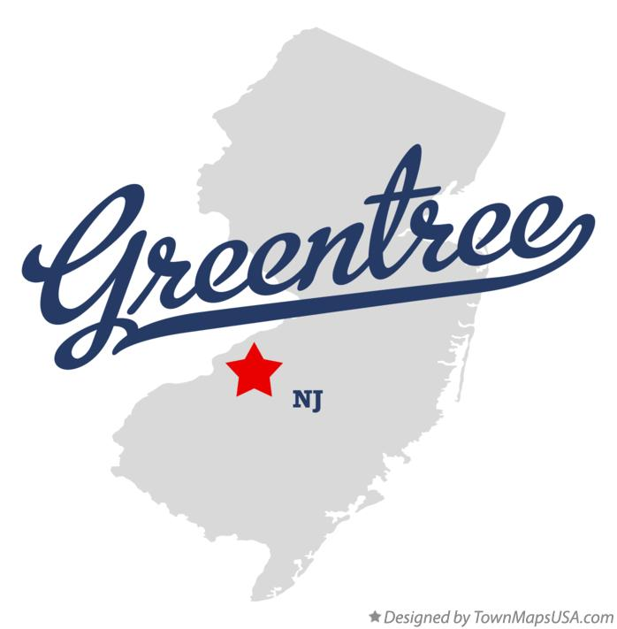 Map of Greentree New Jersey NJ