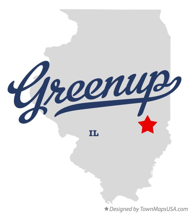 Map of Greenup Illinois IL
