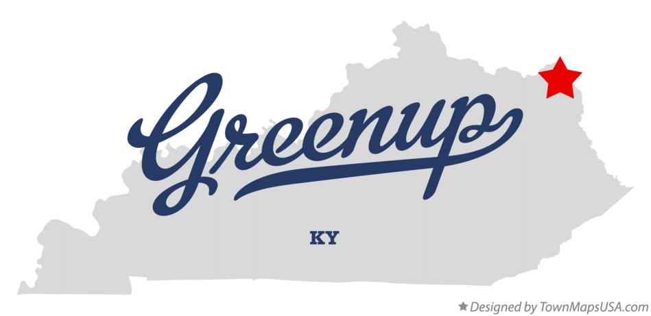 Map of Greenup Kentucky KY