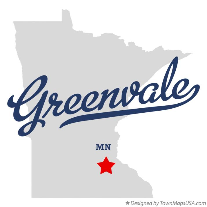 Map of Greenvale Minnesota MN
