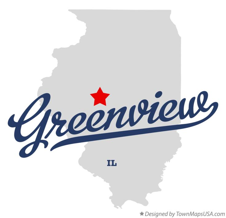 Map of Greenview Illinois IL