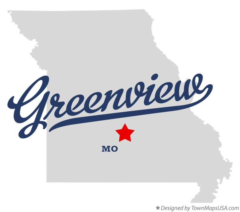 Map of Greenview Missouri MO