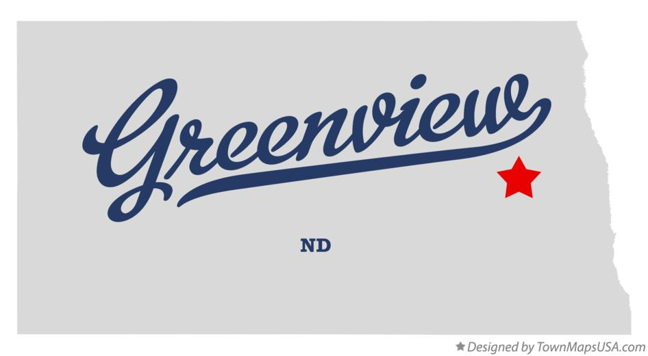 Map of Greenview North Dakota ND