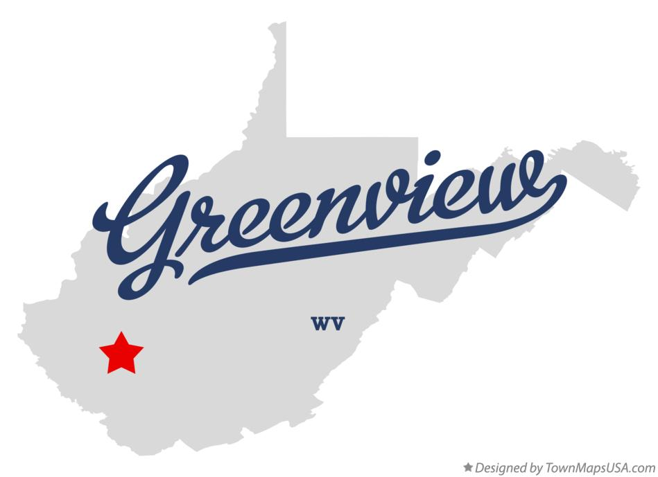 Map of Greenview West Virginia WV