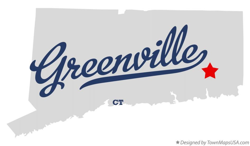 Map of Greenville Connecticut CT