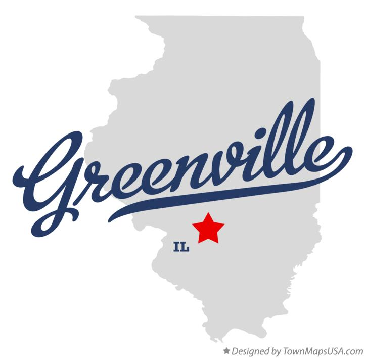 Map of Greenville Illinois IL