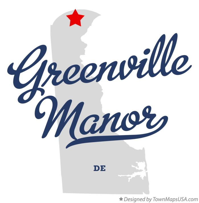 Map of Greenville Manor Delaware DE