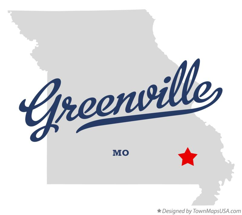 Map of Greenville Missouri MO