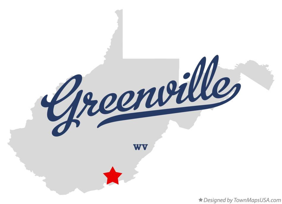 Map of Greenville West Virginia WV