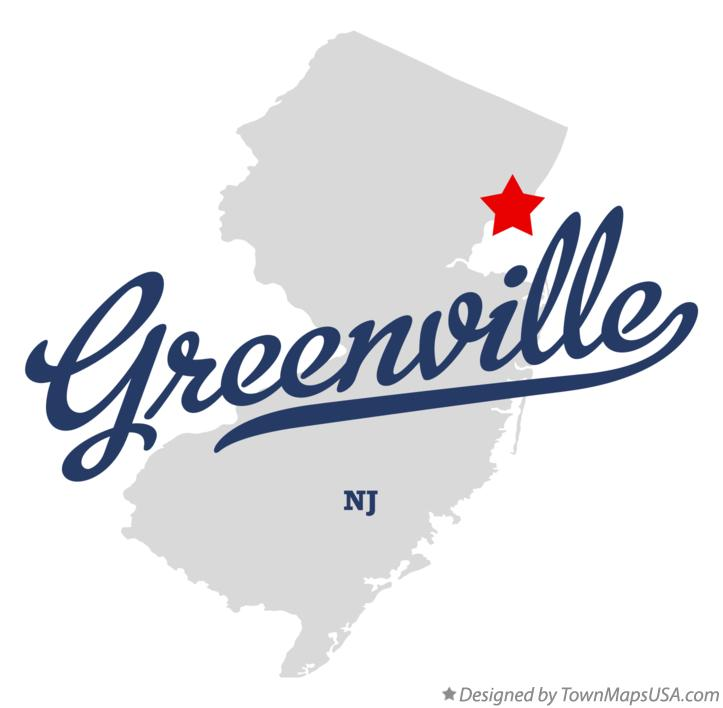Map of Greenville New Jersey NJ
