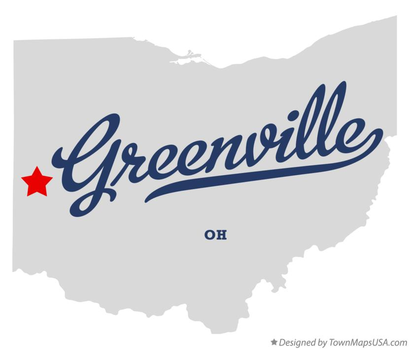 Map of Greenville, OH, Ohio