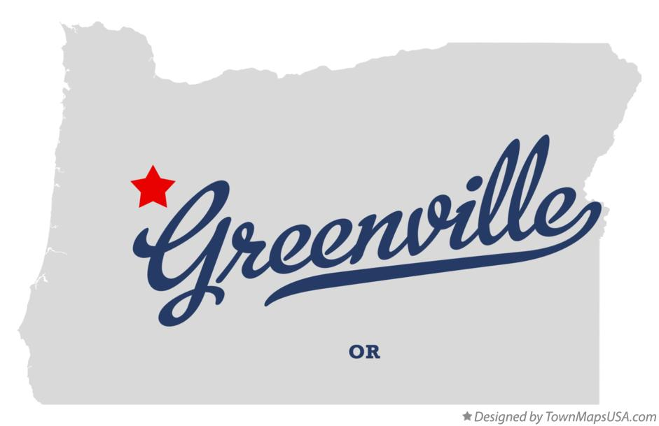 Map of Greenville Oregon OR