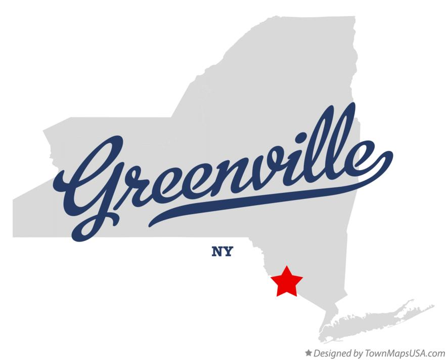 Map of Greenville New York NY
