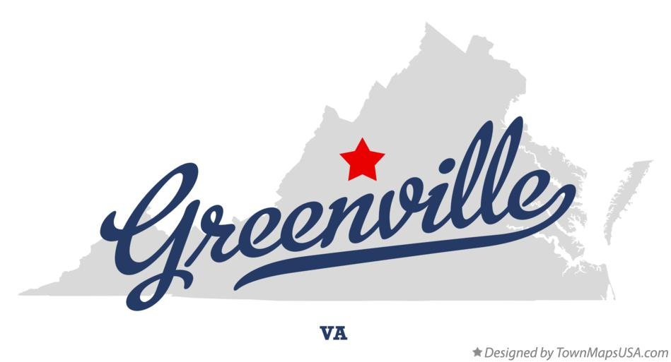 Map of Greenville Virginia VA