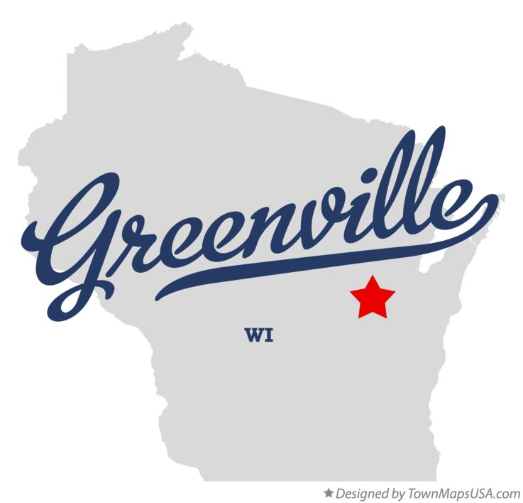 Map of Greenville Wisconsin WI