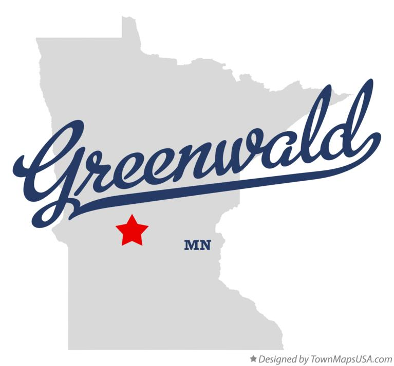 Map of Greenwald Minnesota MN