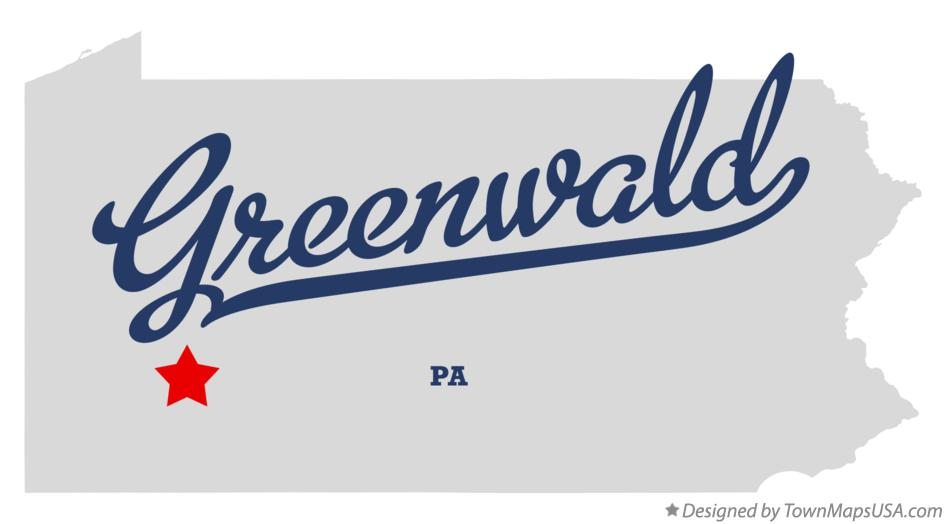Map of Greenwald Pennsylvania PA