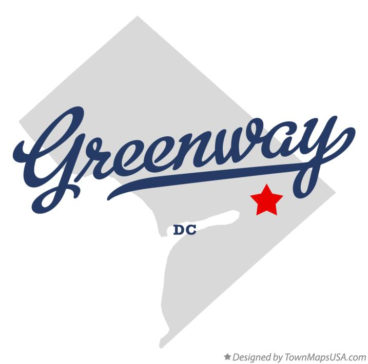 Map of Greenway District Of Columbia DC