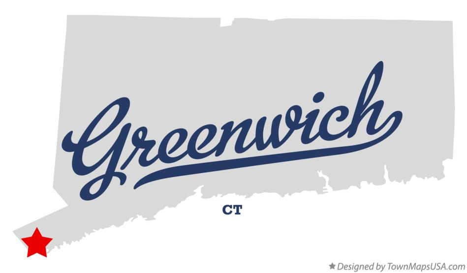 Map of Greenwich Connecticut CT